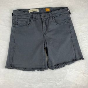 Pilcro and the Letterpress Gray Cutoff Stet Shorts
